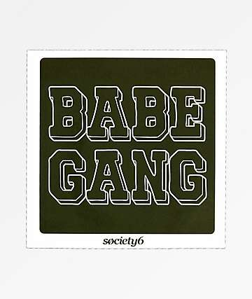 Society6 Babe Gang Sticker