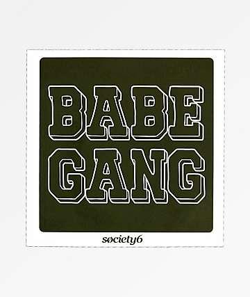 Society6 Babe Gang Sticker