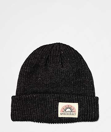 Spacefcraft Index Black Beanie