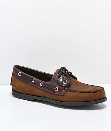 Sperry Authentic Original 2-Eye Brown Buck Shoes