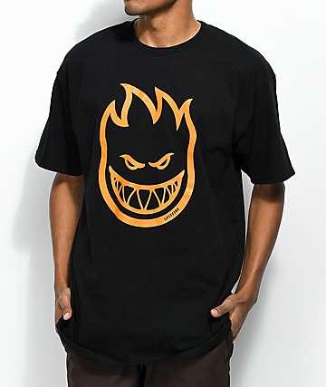 Spitfire Bighead Black & Orange T-Shirt
