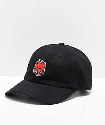 Spitfire Bighead Black & Red Strapback Hat