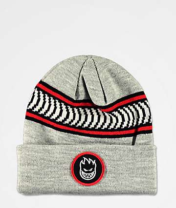 Spitfire Bighead Circle Patch Grey Beanie