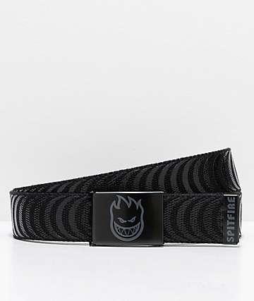 Spitfire Bighead Classic cinturón tejido negro y gris
