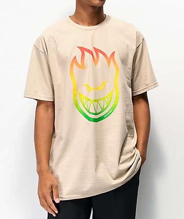 Spitfire Bighead Fade Sand T-Shirt