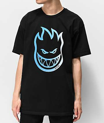 Spitfire Bighead Fill Black & Blue T-Shirt