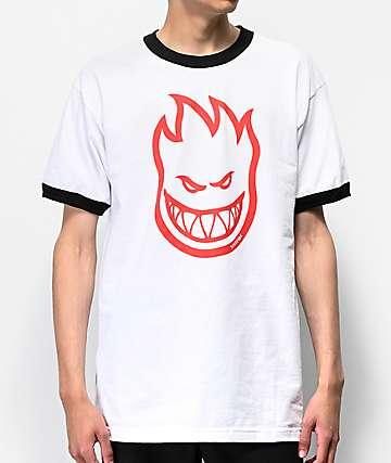 Spitfire Bighead Ringer White T-Shirt