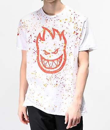 Spitfire Bighead Splatter White T-Shirt