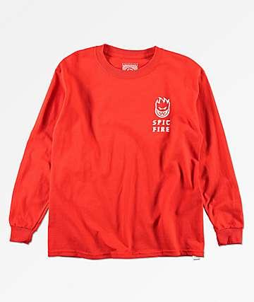 Spitfire Boys Steady Rockin Red Long Sleeve T-Shirt