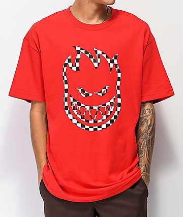 Spitfire Checkered Bighead Red T-Shirt