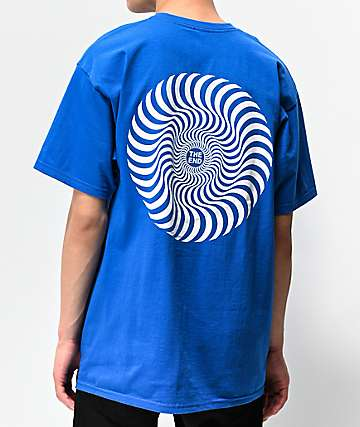 Spitfire Classic Swirl Blue & White T-Shirt