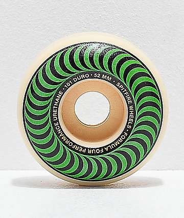 Spitfire Formula Four Classic Green & Black 52mm 101a Skateboard Wheels