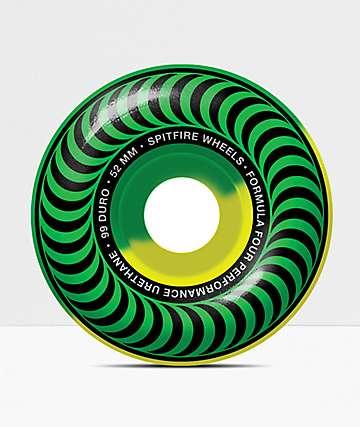 Spitfire Formula Four Classic Green & Yellow 53mm 101a Skateboard Wheels