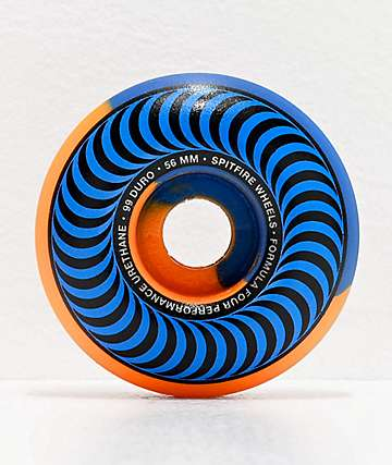Spitfire Formula Four Classics Swirl 56mm 99a Blue & Orange Skateboard Wheels