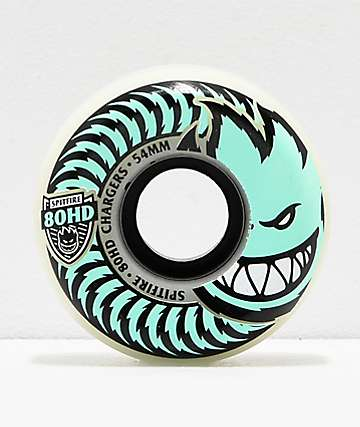 Spitfire Formula Four Conical Stay Lit Teal 54mm 80HD Skateboard Wheels