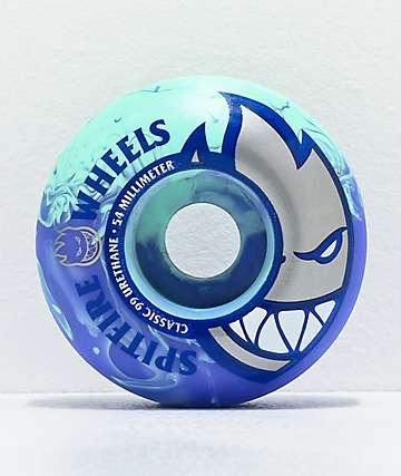 Spitfire Formula Four Swirl 54mm 99a ruedas de skate azules y verdes