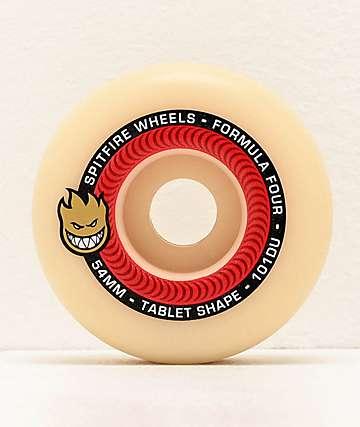 Spitfire Formula Four Tablet 54mm 101a Red & Natural Skateboard Wheels