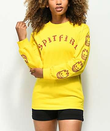 Spitfire Old E Yellow Long Sleeve T-Shirt