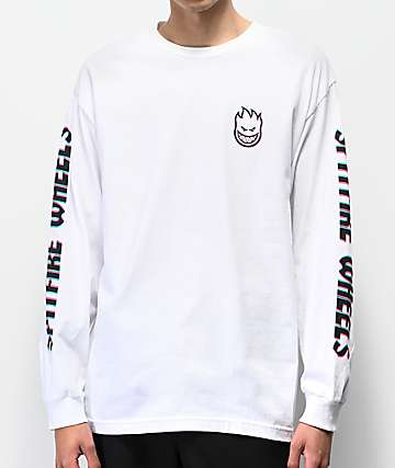 Spitfire Overlay Lil Bighead White Long Sleeve T-Shirt