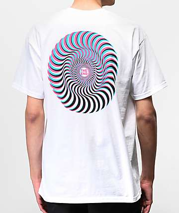 Spitfire Overlay Swirl White T-Shirt