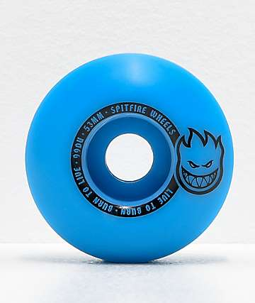 Spitfire Scorchers Blue & Black 53mm 99a Skateboard Wheels