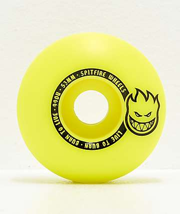 Spitfire Scorchers Yellow & Black 53mm 99a Skateboard Wheels