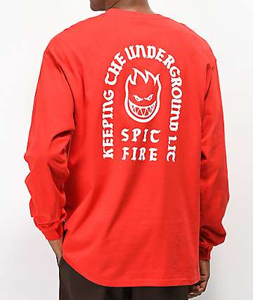 Spitfire Steady Rockin Red Long Sleeve T-Shirt