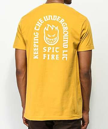 Spitfire Steady Rockin Yellow T-Shirt