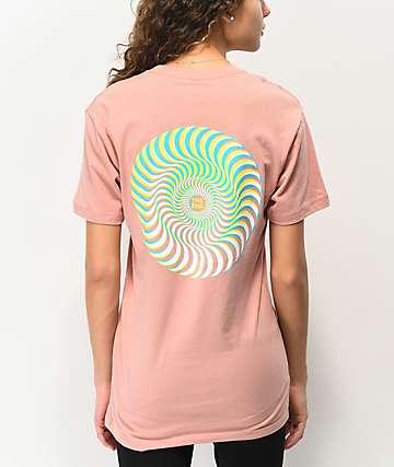 Spitfire Swirl Overlay Desert Pink T-Shirt