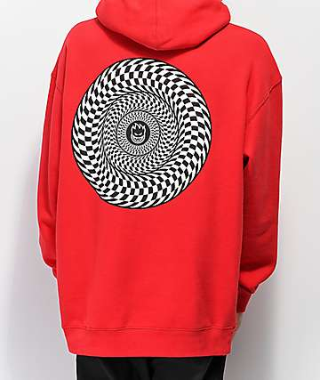 Spitfire Swirl Red Hoodie