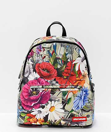 Sprayground Floral Money Mini Backpack