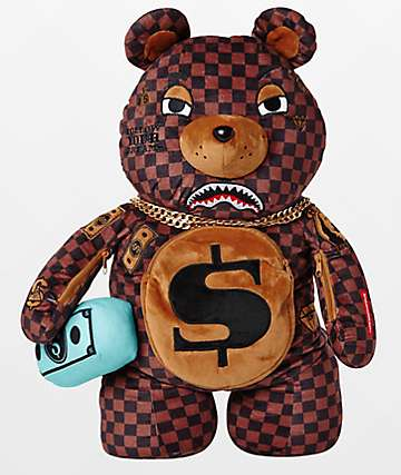 Sprayground Moneybear Checkered Backpack