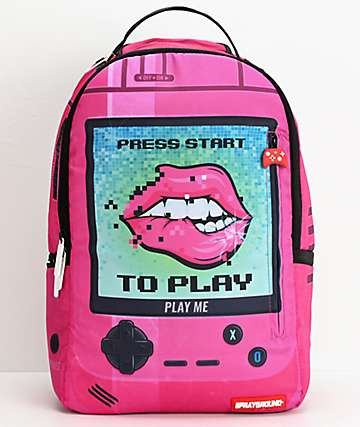 Sprayground Play Me mochila rosa