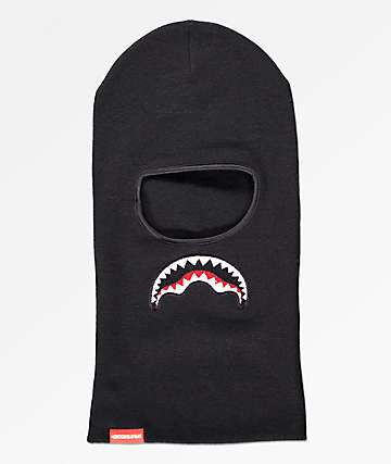Sprayground Shark Drop Down Black Ski Mask