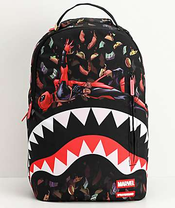 Sprayground x Deadpool Tacos Rain Shark Backpack
