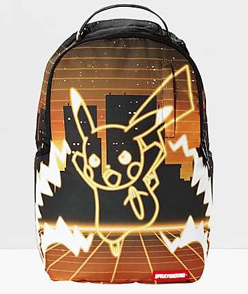 Sprayground x Pokemon Pikachu Neon Shark Backpack