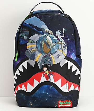 Sprayground x Rick and Morty Crash Shark Backpack