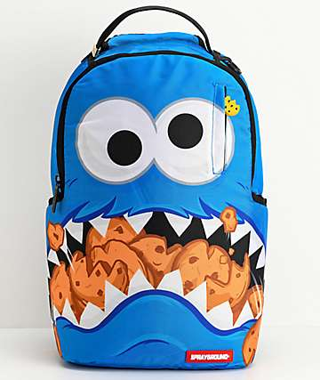 Sprayground x Sesame Street Cookie Monster Shark Backpack