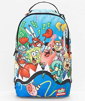 Sprayground x Spongebob Squarepants Shark Squad Backpack