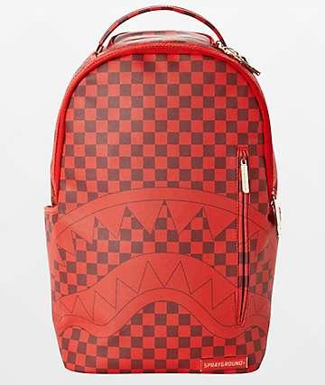 Sprayground x Todd Gurley Sharks In Paris mochila roja de cuadros