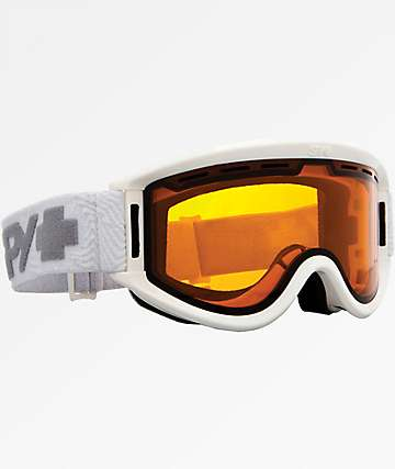 Spy Getaway White & Persimmon Snowboard Goggles