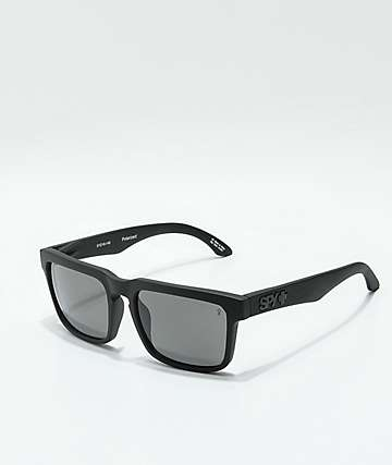 Spy Helm Matte Black & Gray Polarized Sunglasses