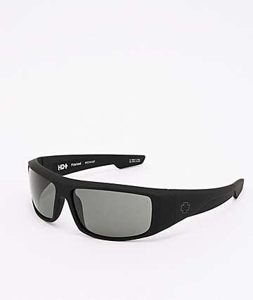 Spy Logan gafas de sol negro mate y verde grisáceo