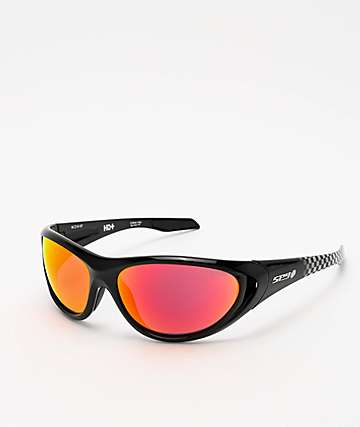 Spy Scoop 2 Black Checkered Fade HD+ Lens Sunglasses