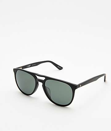 Spy Syndicate Matte Black & Black Happy Lens Sunglasses