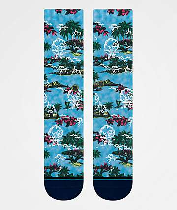 Stance Atomic Wave Blue & Navy Crew Socks