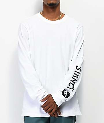 Stance Basis White Long Sleeve T-Shirt