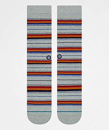 Stance Franklin Grey Striped Crew Socks