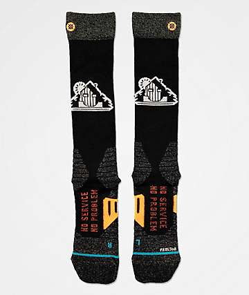 Stance Freedom Frontier Black Snowboard Socks