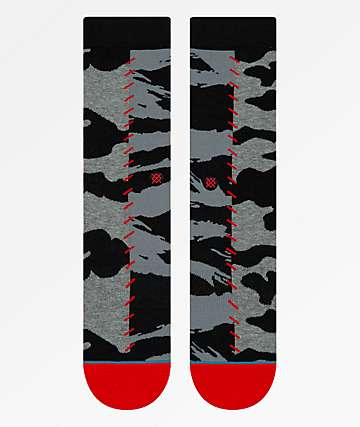 Stance Hard Way calcetines grises y negros